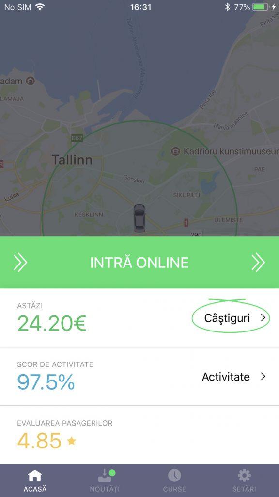 balanta taxify driver